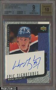 2001-01 Upper Deck Legends Epic Signatures Wayne Gretzky HOF AUTO BGS 9