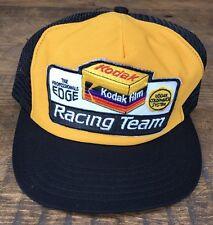 Vintage Kodak Racing Team Trucker Mesh SnapBack Hat Cap USA Made