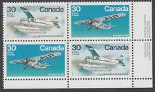 Canada - #970a Bush Aircraft Plate Block - MNH