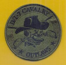 """U.S Army, Outlaws D Troop, 1st Squadron, 7th Cavalry Patch, """"Subdued"""""""