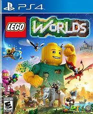 LEGO Worlds [PlayStation 4 PS4, Kids Fun Action Adventure, Explore Worlds] NEW