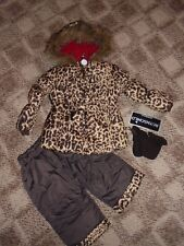 ROTHSCHILD 3 PC SNOW SUITE JACKET/PANTS/MITTENS GIRL 12M BROWN/ ANIMAL PRINT NWT