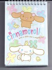 Sanrio Cinnamoroll Mini Notebook Spiral Top Flowers