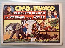 CINO E FRANCO ANNO I n° 10 - L'ELEFANTE BIANCO - ANASTATICA DEL 1974 - OTTIMO