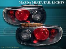 1990-1997 MAZDA MIATA MX5 MX-5 BLACK TAIL LIGHTS CLEAR BRAND NEW 90-97