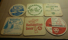 Old Ballantine Beer Ale Coaster Lot of 6 Different Newark NJ Brewery