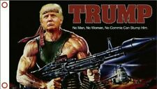 3x5 Donald Trump Rambo Bazooka Flag 5x3 Banner w/ Grommets
