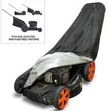 Garden Lawn Mower Cover Heavy Duty Polyester Waterproof UV Dust Protector Black