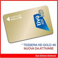 SMART CARD TESSERA TIVUSAT HD GOLD ORO - NUOVA DA ATTIVARE CON ISTRUZIONI!