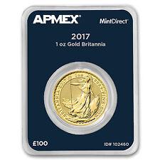 2017 Great Britain 1 oz Gold Britannia (MintDirect® Single)