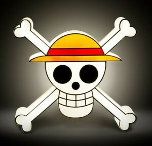 Lamp Portable one piece Luffy Straw Hat Skull Portable Lamp 7 7/8in ABYstyle
