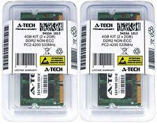 A-Tech 4GB 2 x 2GB PC2-4200 Laptop SODIMM DDR2 533 MHz Notebook Memory RAM 4G 2G