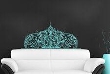 Headboard Wall Decals Art Half Mandala Sticker Yoga Namaste Art Home Decor MS783