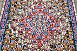 Fine Quality Senneh Kilim Rug 33'' x 42'' Caucasian Oriental Senneh Wool Kilim
