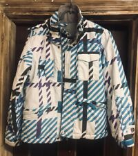 PROTEST WHITE WITH TURQUOISE BLACK AND PURPLE SKI JACKET 152cm