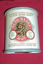 Olde Banke Draft Beer Bank Piggybank Penny Tray Tip Jar Glass Old Vintage Ale Ad