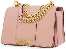 Moschino Ladies Pink Classic Logo Chain Crossbody 74538008147