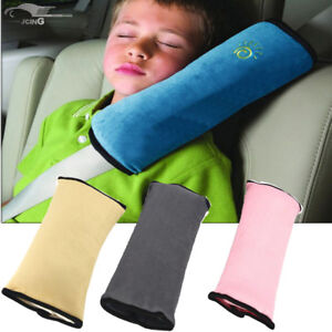 Kids Car Safety Seat Belt Covers Pad Strap Harness Shoulder Sleep Pillow Cushion