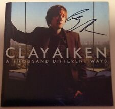 Clay Aiken Signed A Thousand Different Ways Cd American Idol Apprentice