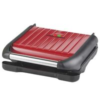 George Foreman 25040 5 Portion Family Cooking Grill - Non-Stick Easy Clean - Red
