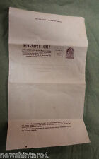 #D135. Two & Half Pence Australian Newspaper Postage Wrapper