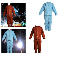 Welding Clothing Suit Safety Fire Resistant Jacket And Pants Shop Protective