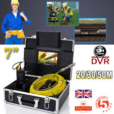 "7"" DVR Under Water Sewer Drain Pipe Wall Inspection Endoscope Camera 20M/30M/50M"