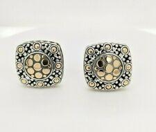 John Hardy Sterling Silver & 18K Gold Jaisalmer Dot Clip On Square Earrings