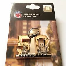 SALE NEW Super Bowl 50 PRESS PIN gold Lapel Pin 3D Broncos Champions Manning hat