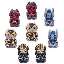 8pcs/lot Transformers PVC Shoe Charms Accessories fit in Shoes & Bracelets Gifts