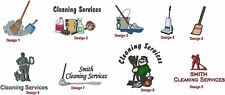 6 Shirts Embroidered Free 4Ur Cleaning Business Maid Janitor Company