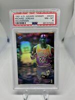 1991 Upper Deck Award Winner Holograms #AW4 Michael Jordan PSA 8 Chicago Bulls