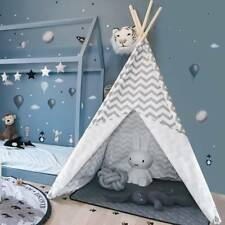 Large Cotton Poles Kids Teepee  Childrens Tent Wigwam Indoor Outdoor Play House