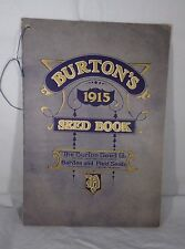 1915 Burtons Seed Book Blue Grey with Gold Cover 80 Pgs Great B & W Pictures
