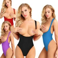 Women High Cut Bodysuit Lingerie Open Chest Bikini Underwear Babydoll Sleepwear
