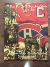 Jean Beliveau Foundation 2008 Hockey Auction Catalog Howie Morenz Henri Richard