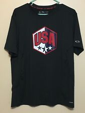 Mens Large Champion Duo Dry Ss Shirt Usa Vents Black Euc Polyester Power Core Clothing, Shoes & Accessories