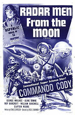 Radar Men from the Moon 12 chapter serial on 2 DVDs in case w/art Free shipping