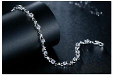 Luxury White Gold Plated Bracelet AAA Cubic Zirconia - Gift Pouch Incl