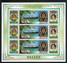 BELIZE, QE11, 1985 ROYAL VISIT, SG 862-64 IN SHEETLET, MNH 3 SETS, CAT 18GBP