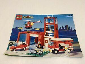 LEGO ® System Bauanleitung 6571 Feuerwehrstation Instruction ungelocht