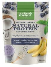 Natural Whey Protein Powder Blueberry Coconut Superfood Health Shake