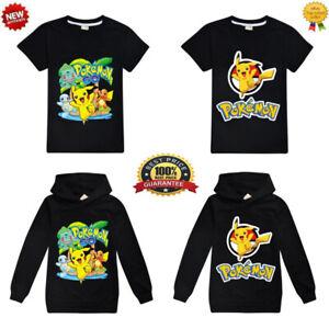 New Pokemon Go Pikachu Kids Hoodies Boys Girls Casual Hooded/T-shirt Sweatshirt
