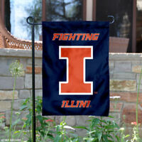 Illinois Fighting Illini New Logo Garden Flag and Yard Banner