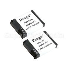 Two (2) Replacement Battery For GoPro HD HERO 960 HERO2 AHDBT-001 AHDBT-002