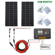 ECO 200W Solar panel KIT :2x 100W Photovoltaic PV Solar Panel for RV Boat Home