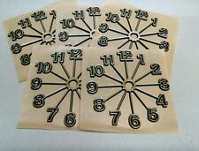 "(5) Full Starburst Clock numbers, 5"" Clock parts: self stick, 5 dials, USA MADE"