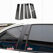 8x Window Pillars Post Middle Sticker Cover PC Case For Honda Vezel HR-V 16 -17