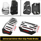 2 Pcs Silver Car Automatic Gas Accelerator Brake Pedals Cover Non Slip Pad Parts