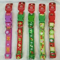 Large Christmas Adjustable Dog Collar In A Free Gift Bag